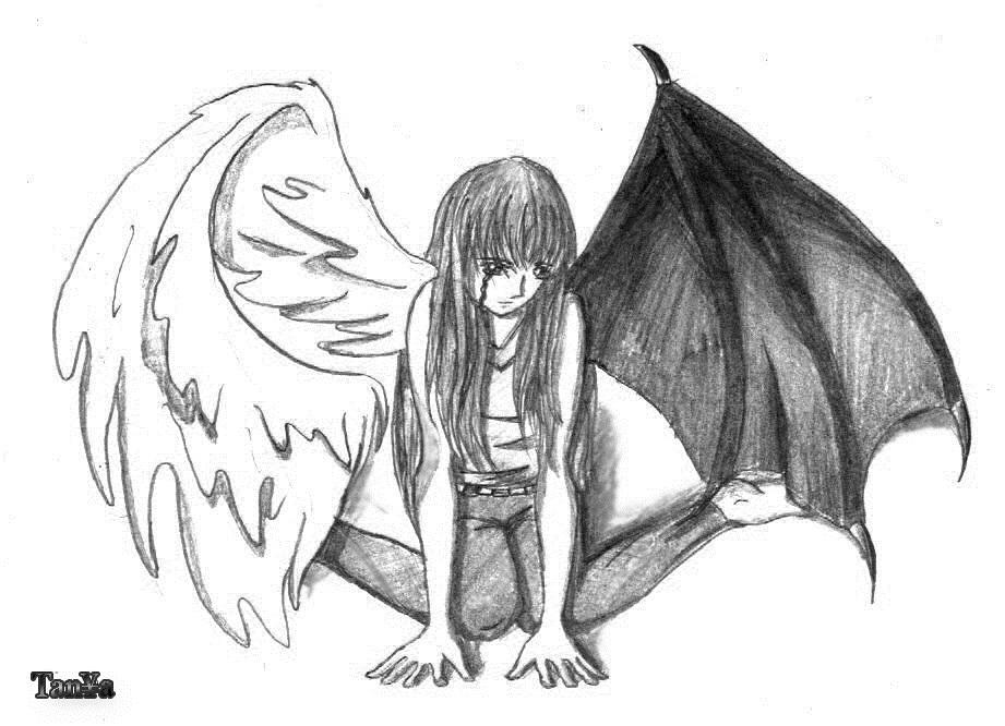 Аниме рисунки ангелов 001