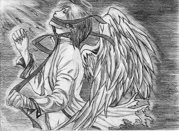 Аниме рисунки ангелов 002