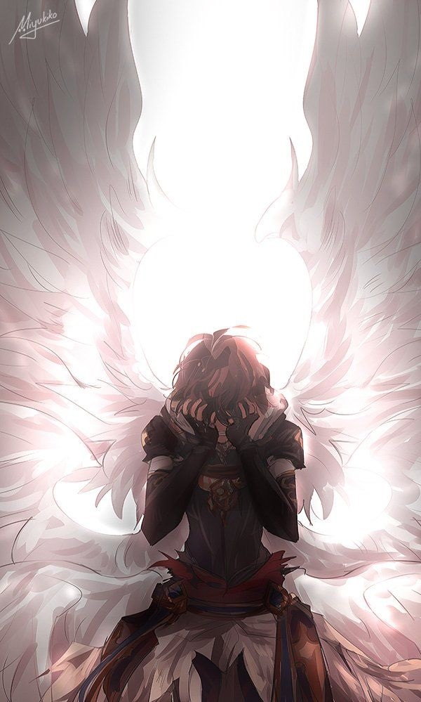 Аниме рисунки ангелов 003