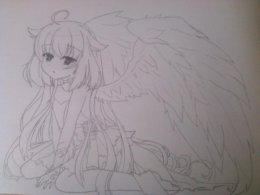 Аниме рисунки ангелов 009