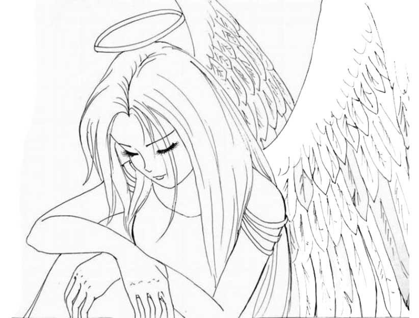 Аниме рисунки ангелов 010