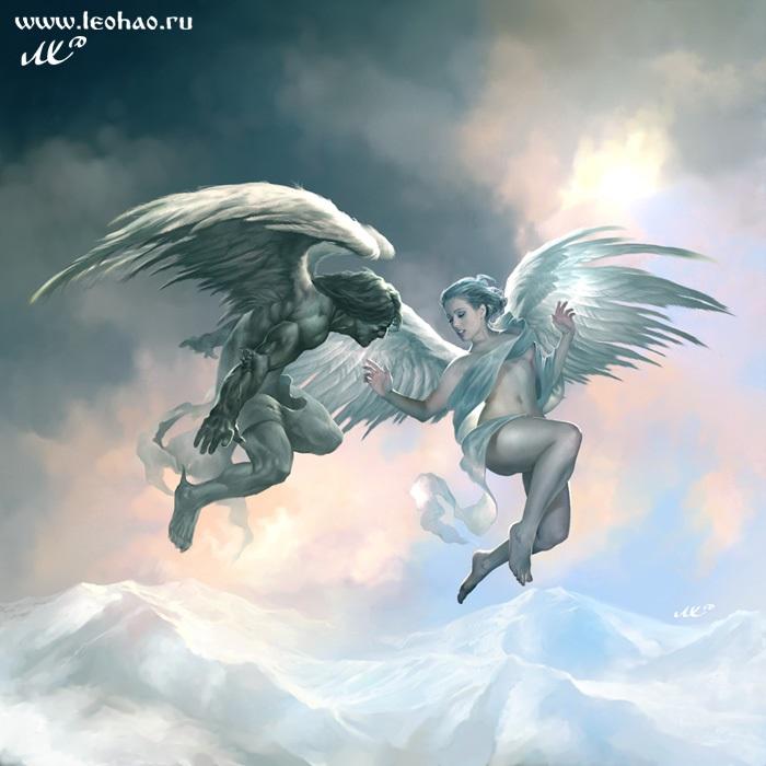 Аниме рисунки ангелов 017