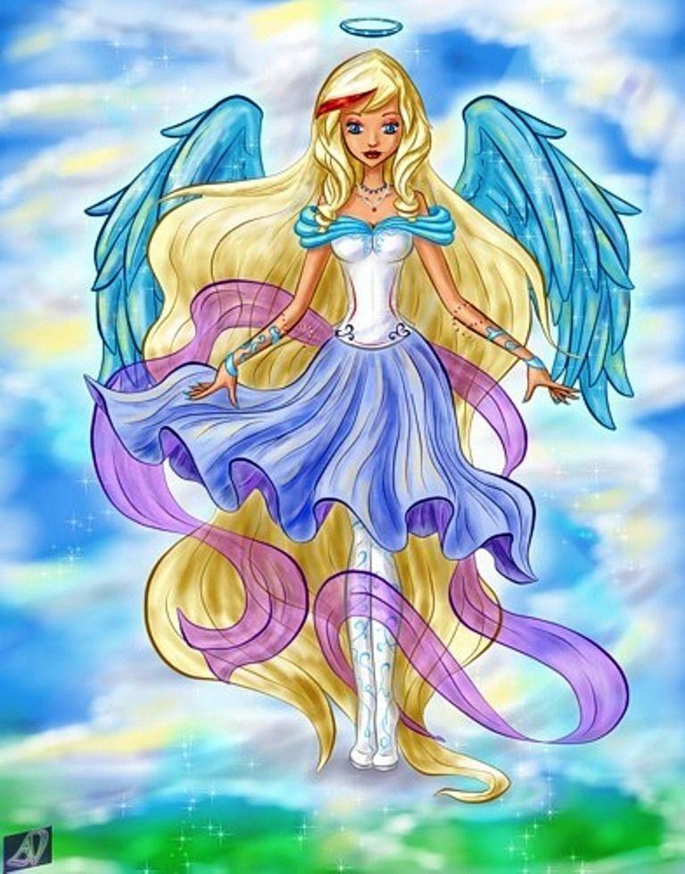 Аниме рисунки ангелов 020