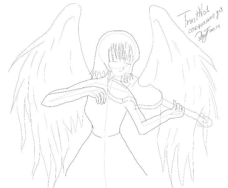Аниме рисунки ангелов 021