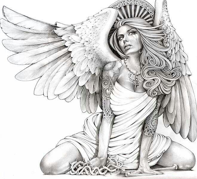 Аниме рисунки ангелов 022