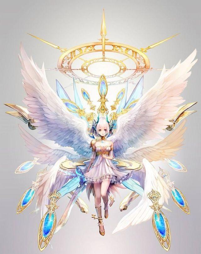 Аниме рисунки ангелов 023