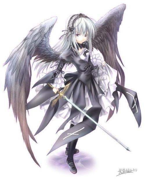 Аниме рисунки ангелов 024
