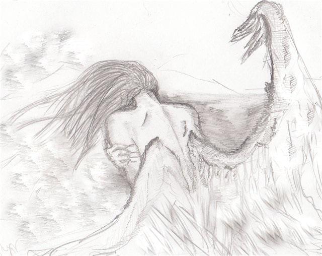 Аниме рисунки ангелов 025