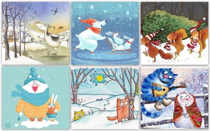 Детские рисунки иллюстрации 014