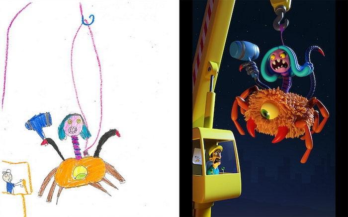 Детские рисунки иллюстрации 020