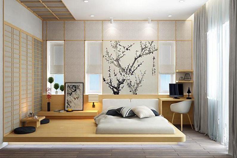 Как обустроить спальню в японском стиле (10)