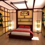 Как обустроить спальню в японском стиле