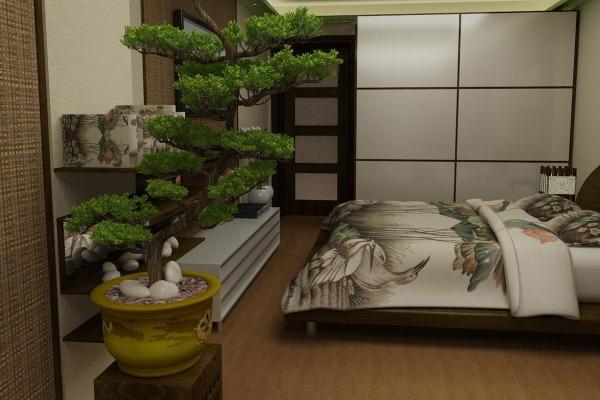 Как обустроить спальню в японском стиле (4)