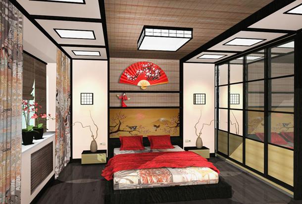 Как обустроить спальню в японском стиле (6)