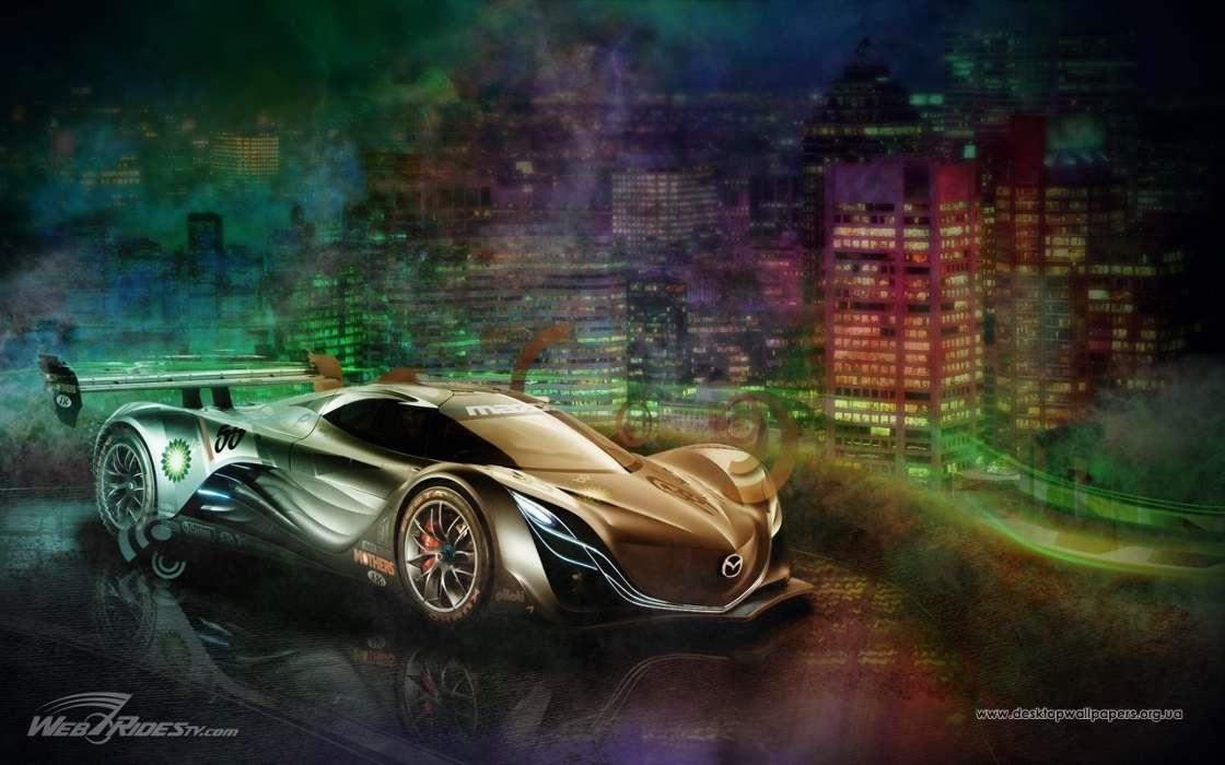 Машины арт рисунки 001