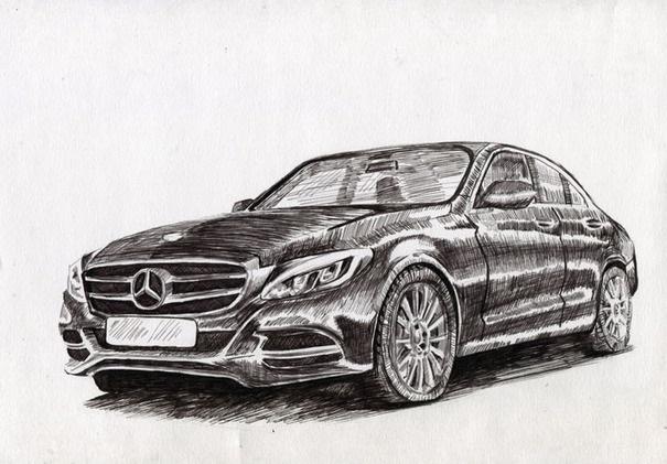 Машины арт рисунки 004