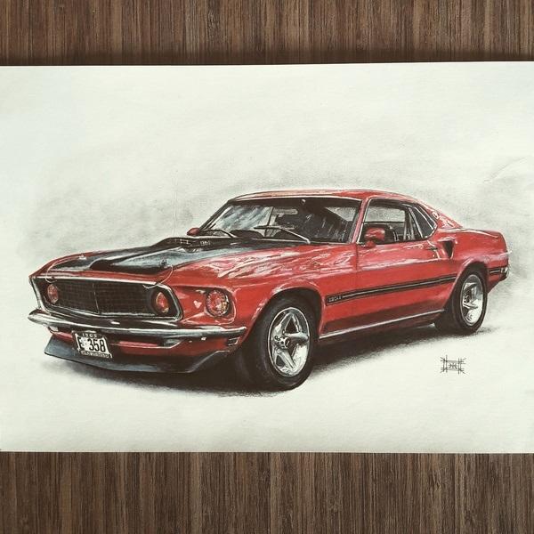 Машины арт рисунки 007