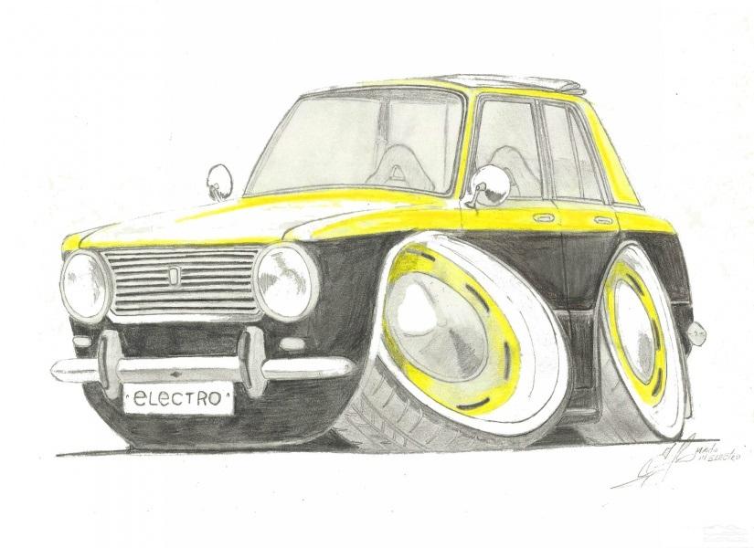 Машины арт рисунки 008