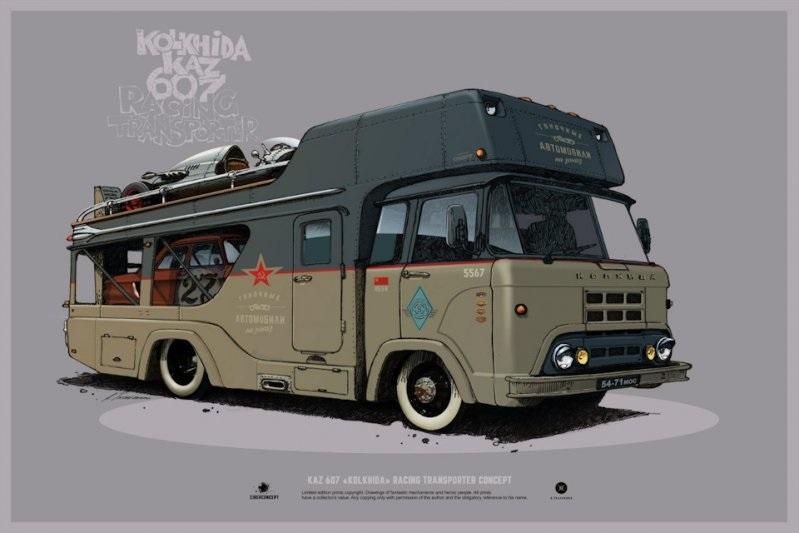 Машины арт рисунки 009