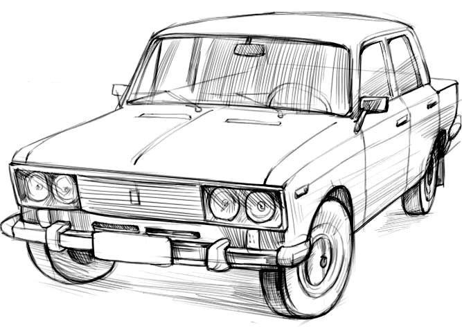 Машины арт рисунки 013