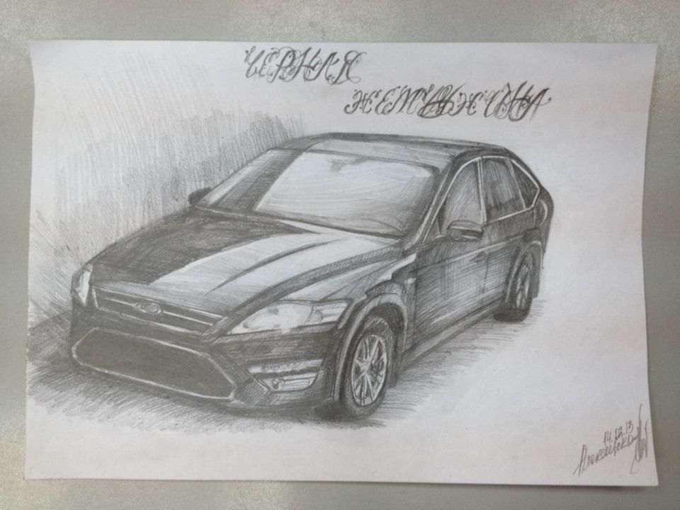Машины арт рисунки 015