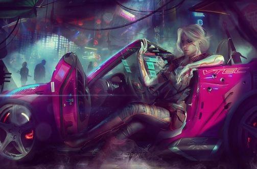 Машины арт рисунки 020