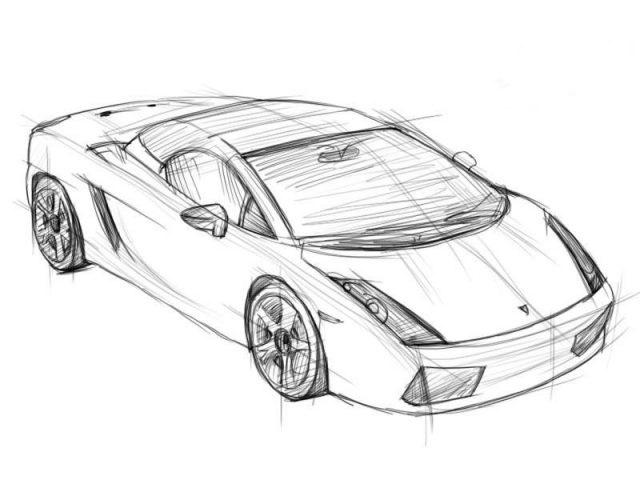 Машины арт рисунки 022