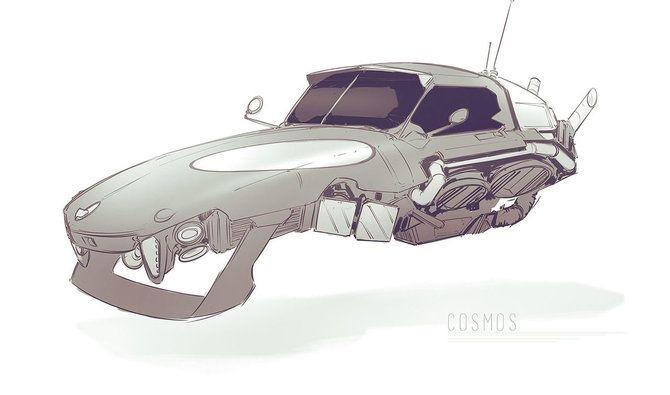 Машины арт рисунки 023