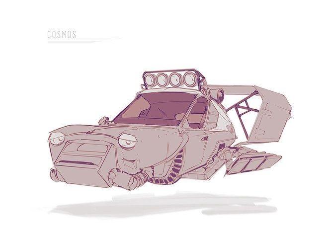Машины арт рисунки 024