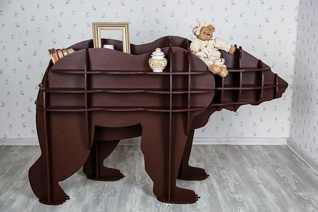 Медведь полка из фанеры 009