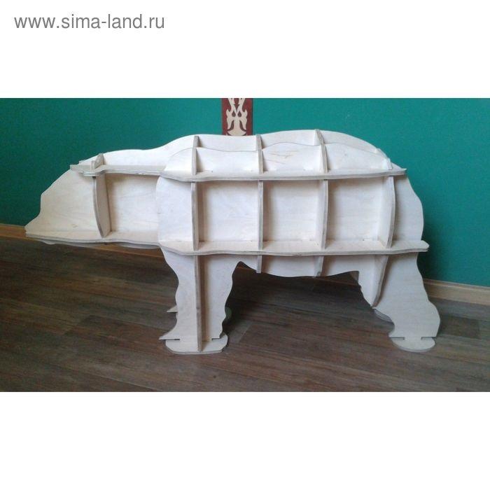 Медведь полка из фанеры 014