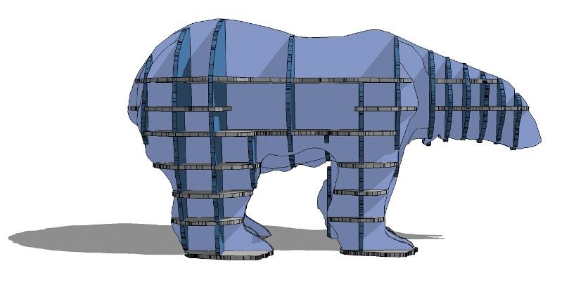 Медведь полка из фанеры 016