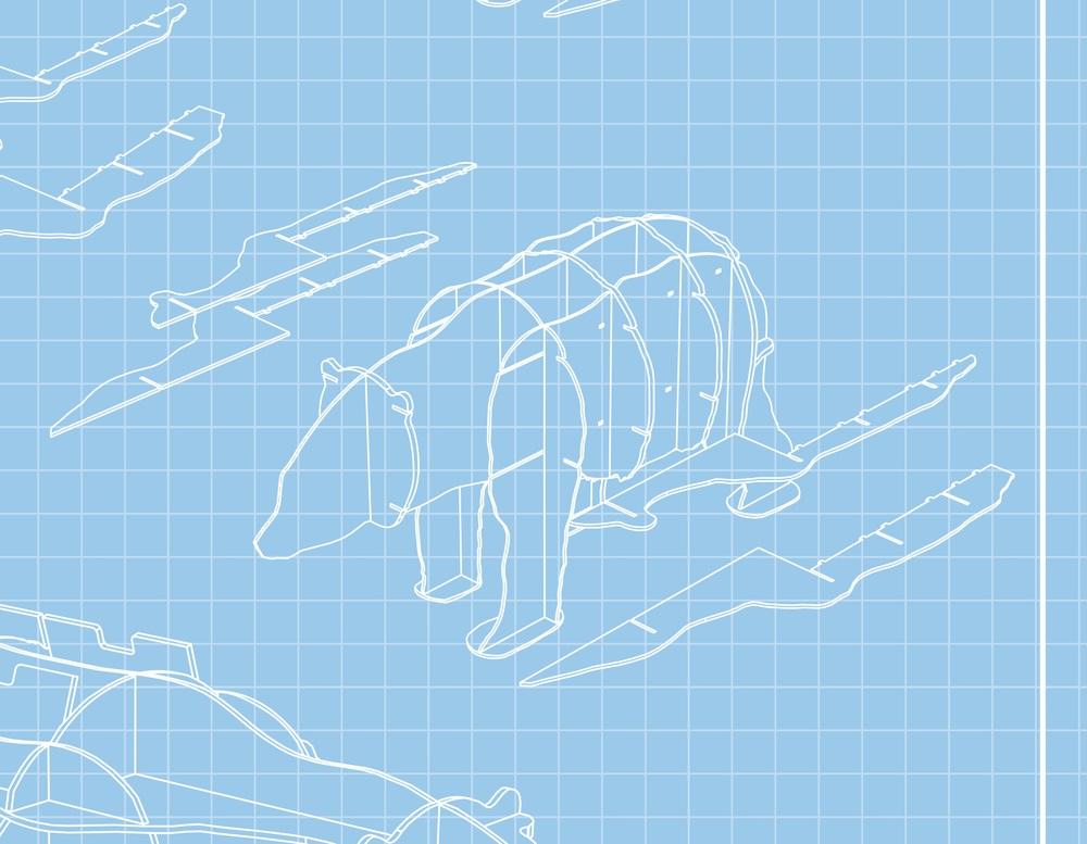 Медведь полка из фанеры 020