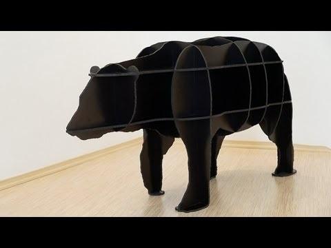 Медведь полка из фанеры 025