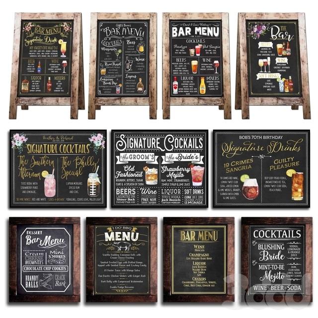 Меловые надписи в кафе 019