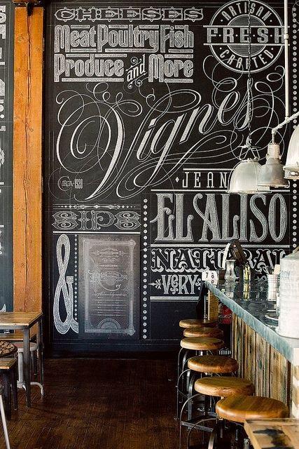 Меловые надписи в кафе 021