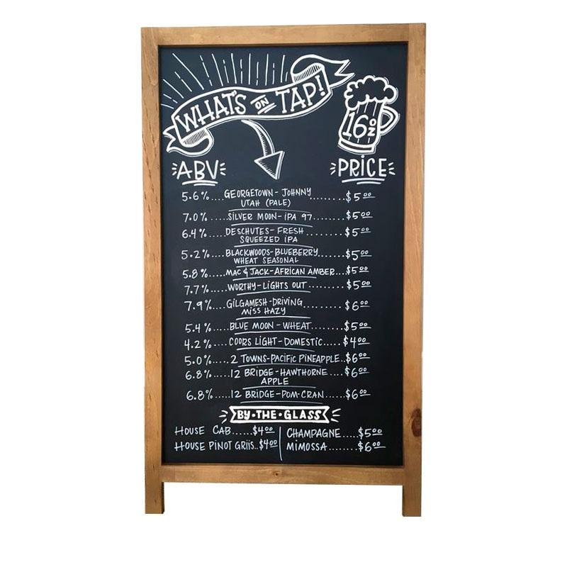 Меловые надписи в кафе 027