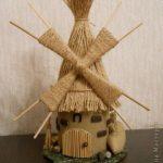 Мельница поделка из шпагата — коллекция