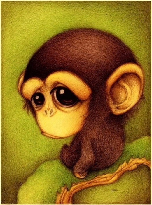 Милые рисунки животных 005