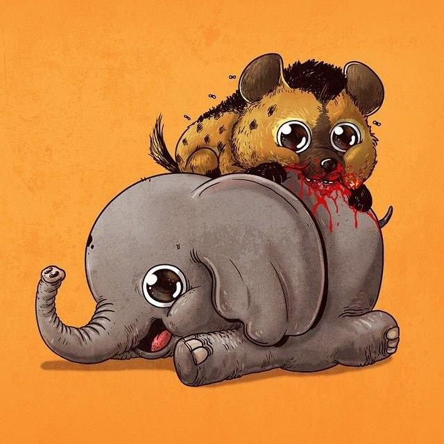 Милые рисунки животных 008