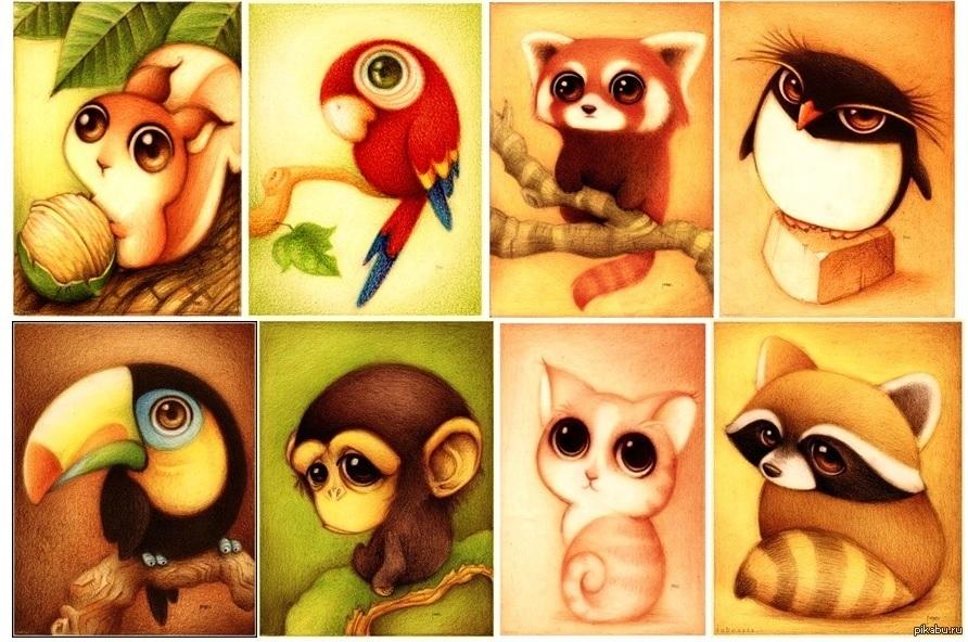 Милые рисунки животных 010