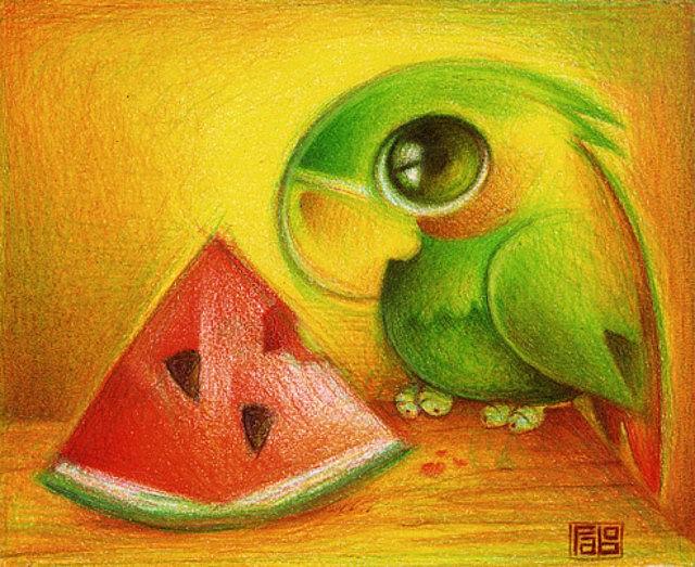 Милые рисунки животных 012