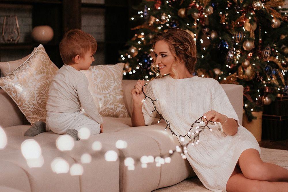 Новогодняя фотосессия мама и сын 001