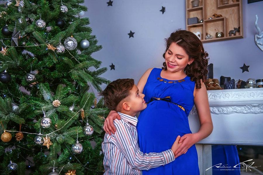Новогодняя фотосессия мама и сын 008
