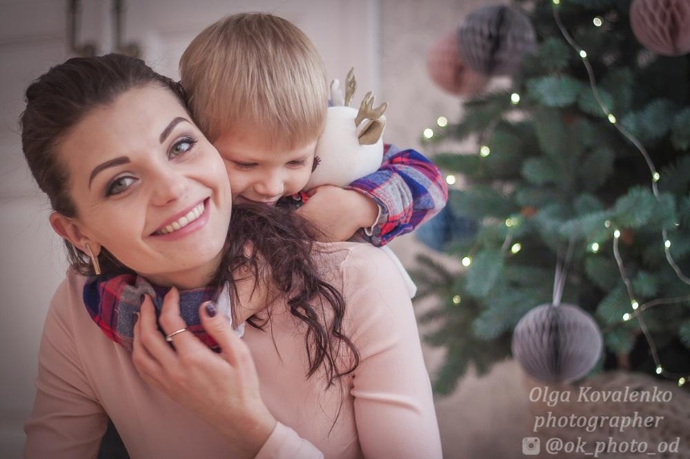 Новогодняя фотосессия мама и сын 012