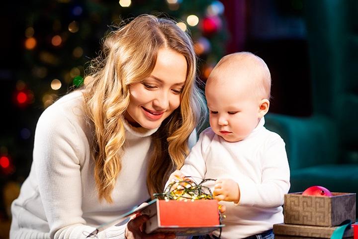 Новогодняя фотосессия мама и сын 018