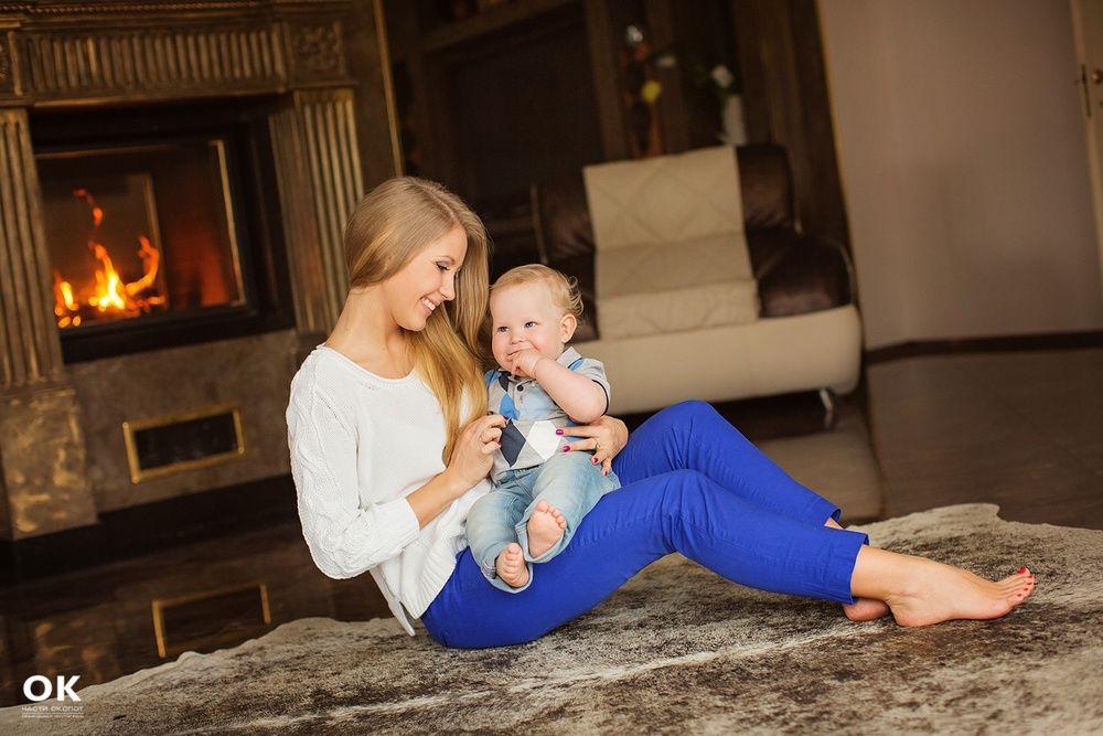 Новогодняя фотосессия мама и сын 019