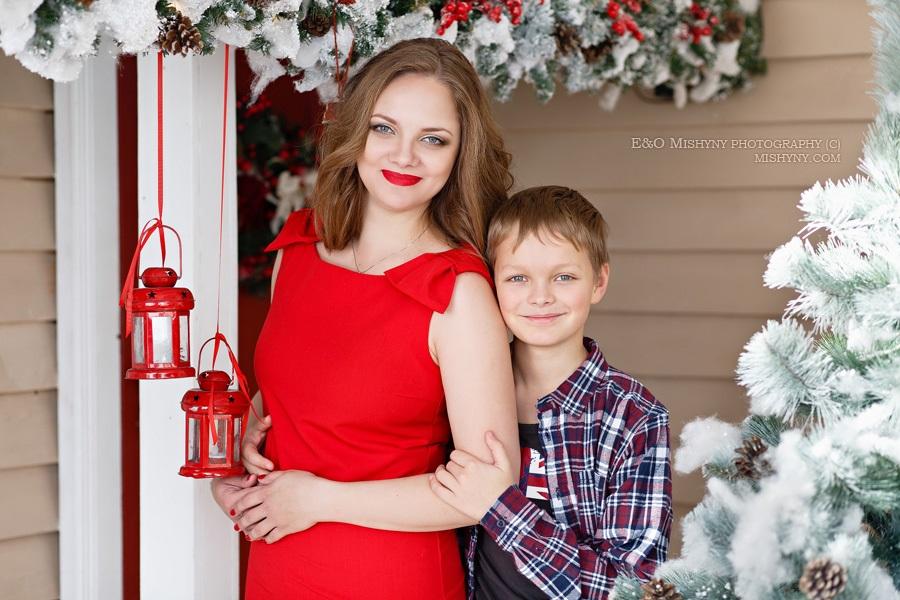 Новогодняя фотосессия мама и сын 020