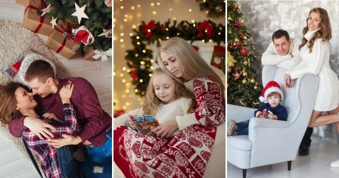 Новогодняя фотосессия мама и сын 023