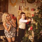 Новогодняя фотосессия мама и сын — коллекция